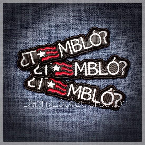 ¿TEMBLO?  Iron On Patches | embroidered/bordado