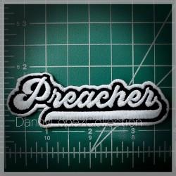 Preacher Iron On Patches | embroidered/bordado