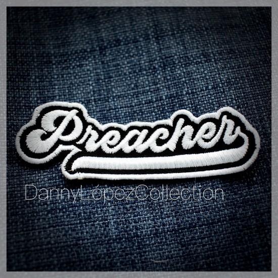 Preacher Iron On Patches   embroidered/bordado