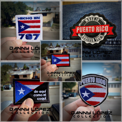 Puerto Rico Pack #1 Iron On Patches | embroidered/bordado