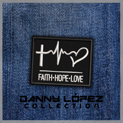 Faith Hope Love  Iron On Patches | embroidered/bordado