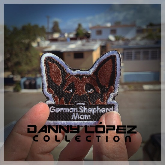 German Shepperd Mom Patch Iron On Patches | embroidered/bordado