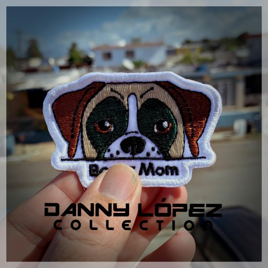 Boxer Mom Patch Iron On Patches | embroidered/bordado
