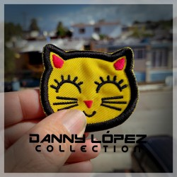 Yellow Cat Patch Iron On Patches | embroidered/bordado