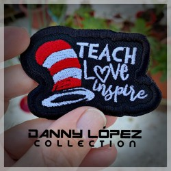 Teach, Love and Inspire Iron On Patches | embroidered/bordado