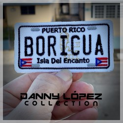 Boricua Licence Plate Iron On Patches | embroidered/bordado