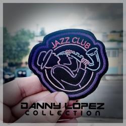 Club Jazz Sax Iron On Patches | embroidered/bordado