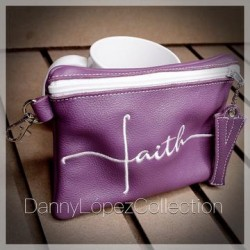 PIEL (GENUINA) FAITH/FE POUCH WALLET CON INICIAL (INITIAL)